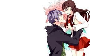 Картинка аниме, арт, девочка, парень, двое, Ib, IB