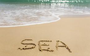 Обои песок, море, волны, пляж, лето, summer, beach, sea, ocean, seascape, sand, wave