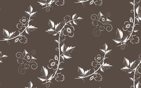 Обои retro, vector, with, floral, текстура, flowers, pattern
