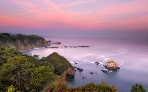 Картинка море, побережье, Испания, Asturias, Playa del Silencio, Castaneras, Novellana