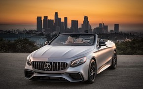 Картинка Mercedes-Benz, Лос-Анджелес, AMG, Los Angeles, 2018, Cabriolet, 4MATIC, S63