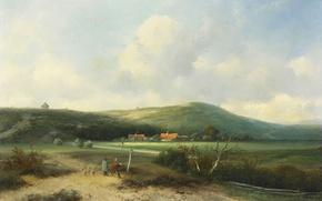 Картинка пейзаж, картина, Дюны, Johannes Franciscus Hoppenbrouwers