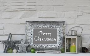 Картинка шары, свечи, Новый Год, Рождество, merry christmas, decoration, xmas, holiday celebration