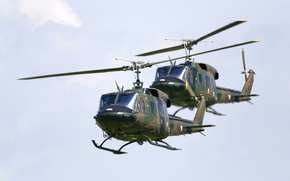 Картинка транспортный вертолёт, Agusta-Bell, AB-212