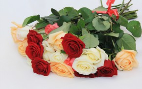 Картинка фон, розы, букет