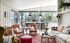 Обои гостиная, интерьер, Villa Pearl Beach, вилла