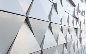 Картинка abstract, wall, design, texture, треугольник, background, steel, triangle