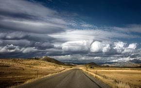 Картинка дорога, небо, облока