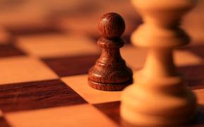 Обои фигура, шахматы, доска, пешка