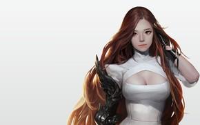 Картинка девушка, аниме, воин, арт, Personal work, snod snow