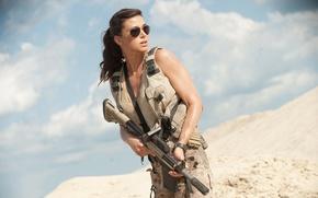 Обои девушка, adrianne palicki, G.I. Joe: Retaliation, бросок кобры 2, оружие