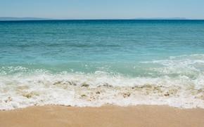 Картинка песок, море, волны, пляж, лето, summer, beach, sea, ocean, seascape, sand, wave