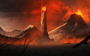 Обои Lord of The Rings, Mordor, Mount Doom, Eye of Sauron