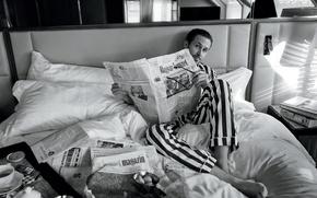 Картинка Ryan Gosling, Райан Гослинг, на фотосессии, чб фотография, для журнала «GQ»