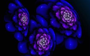 Обои абстракция, цветок, краски, лепестки