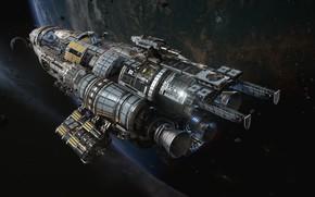 Картинка космос, планета, Fractured Space, Update Pass, USR Black Widow