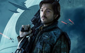 Обои оружие, постер, винтовка, Rogue One, Diego Luna, Диего Луна, Изгой-один: Звёздные войны. Истории, фантастика