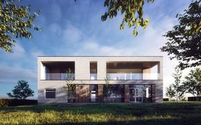 Картинка растительность, House, архитектура, строение, villa