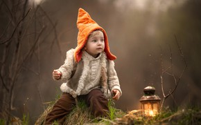 Картинка шапка, мальчик, фонарь, гном