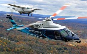 Обои лопасти, вертолет, самолет, MATRIX, Sikorsky, полет