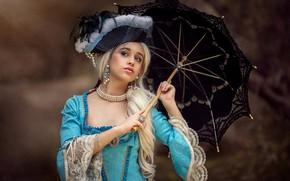 Картинка украшения, зонтик, платье, шляпка, Chloe Britannia