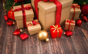 Обои decoration, wood, Christmas, New Year, holiday celebration, Рождество, gifts, игрушки, happy, украшения, Merry Christmas, подарки, ...