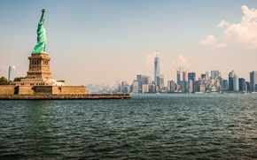 Обои New York, Statue of Liberty, Metropolis