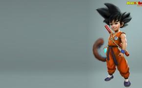 Картинка фантастика, аниме, арт, парень, dragon ball, Kid Goku, Carl Ellis