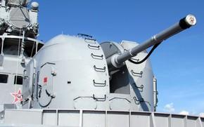 Картинка артиллерийская установка, корабельная, АК-100, одноствольная