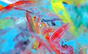 Обои радуга, краски, палитра, рисование