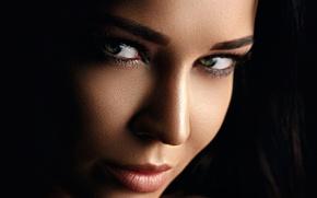 Картинка eyes, model, lips, look, Angelina Petrova