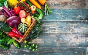 Картинка урожай, овощи, fresh, wood, vegetables, healthy, harvest