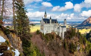 Картинка замок, Германия, Neuschwanstein Castle, Замок Нойшванштайн