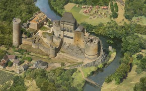 Картинка река, замок, лагерь, Money Shots, Age of Empires