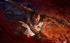 Картинка Mortal Kombat, fan art, Baraka, Таркатанские лезвия, Таркатан, мутант-кочевник