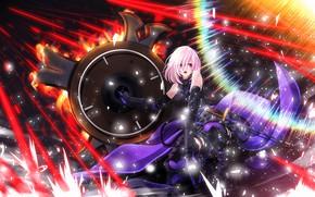 Картинка девушка, аниме, арт, щит, Fate/Grand Order, Shielder
