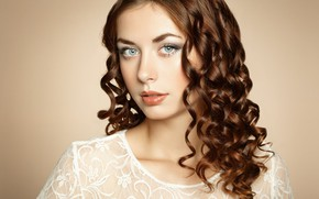Картинка макияж, кудряшки, губки, фотограф Olga Kudryashova, Ольга Кудряшова