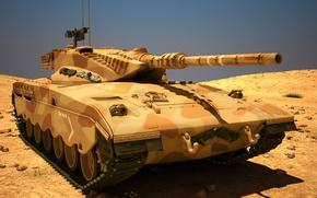 Картинка танк, боевой, Merkava, Израиля, MAX, 3Ds