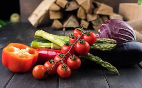 Картинка перец, овощи, помидоры, ассорти