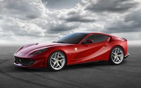 Обои Ferrari, суперкар, Superfast, фон, феррари, 812