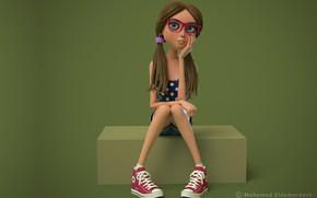 Обои очки, девочка, Mohamed El-Demerdash, Jasmine Rose