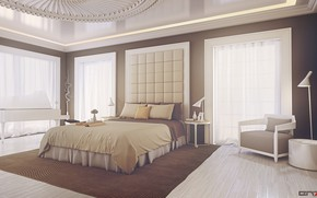 Картинка свет, мебель, помещение, обстановка, Bedroom design