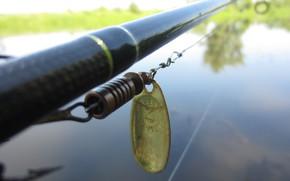 Картинка Природа, Река, Рыбалка, Блесна, Спиннинг, Mepps