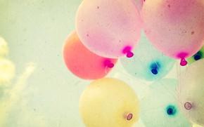 Картинка лето, солнце, счастье, воздушные шары, отдых, colorful, summer, sunshine, happy, vintage, balloon
