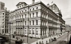 Картинка дом, ретро, США, Филадельфия, почта, 1900-й год