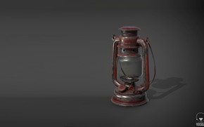 Картинка лампа, арт, linus scheffel, Oil Lamp