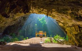 Картинка Таиланд, пещера, павильон, Куха Карухас, Прая Након
