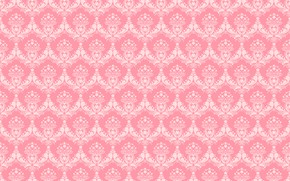Картинка фон, узор, текстура, орнамент, розовый фон