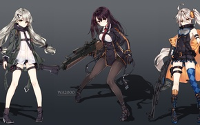 Картинка gun, weapon, anime, sniper, rifle, japanese, oriental, asiatic, machine gun, bishojo, asin, Girls Frontline
