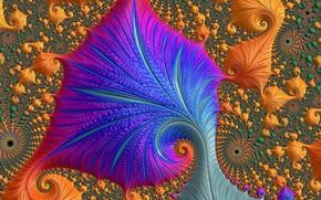 Обои цвет, узор, фрактал